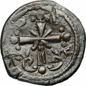 JESUS-CHRIST-Class-I-Anonymous-Ancient-1078AD-Byzantine-Follis-Coin-CROSS-i84295