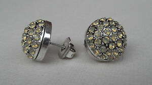 Mimco-CRYSTAL-DOME-STUD-Lemon-Jewellery-earrings-BNWT-RRP-89-95