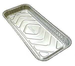 "Handi-Foil 12"" x 5"" Oblong Aluminum Foil Danish/Cake Pan 1"" Deep - HFA REF# 4053"