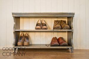 Shoe-Storage-Rack-Bench-Cupboard-Shelf-Vintage-Shabby-Chic