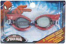 Boys Kids Marvel Avengers Spiderman 3D Swimming Glasses Goggles Age 3+