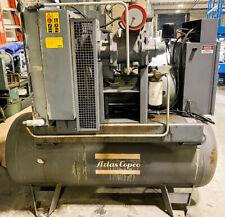 Atlas Copco Gau 15 100 Air Compressor 15hp Sold As Is