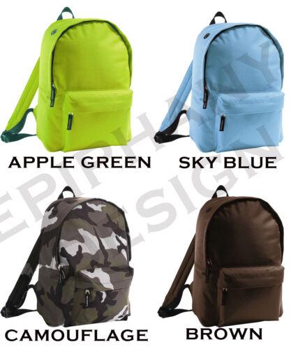 Kids Bag Personalised Backpack Rucksack Add Name Star Boys Girls School Cycle