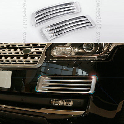 Chrome Front Fog vent grille cover Frame trim For Range rover L405 2013-2017