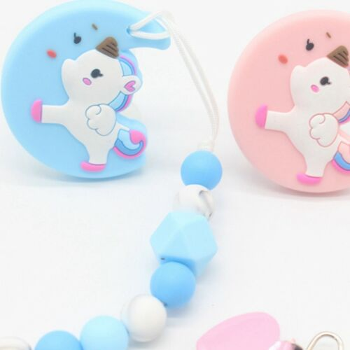 Baby Silicone Pacifier Clips Teething Chain Holder Clip Bead Dummy Holders