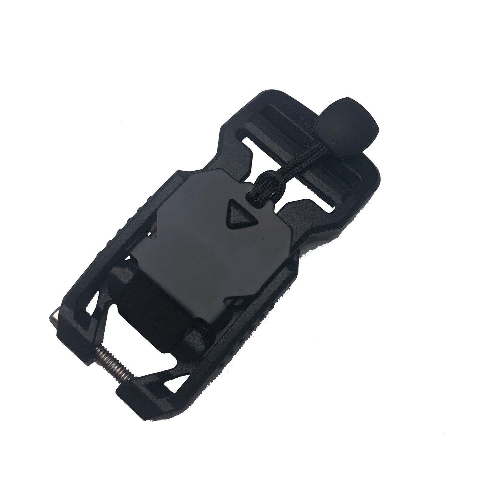 BLACK Fidlock Swivel Mount V-Buckle 25mm Pull - Magnetic Connector Fastener