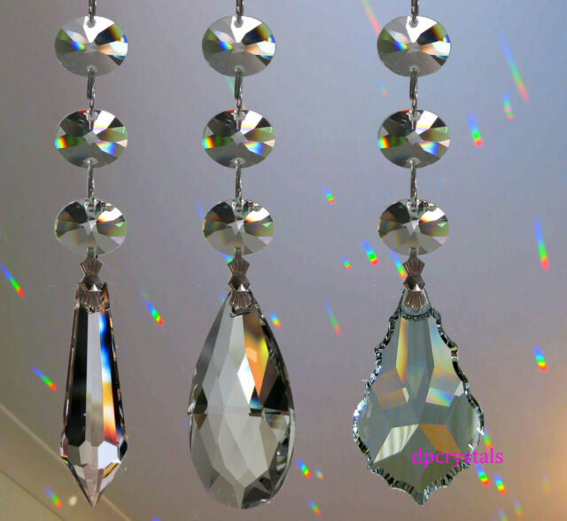 Sun catcher Hanging Crystal Drop Rainbow Prism Feng Shui Mobile Wind Chime