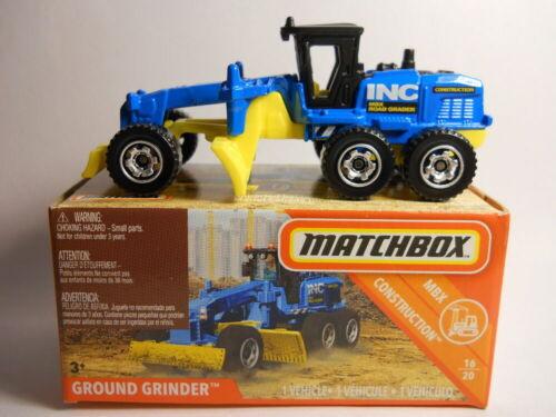 Matchbox1:64  2019 Ground Grinder Power Grabs Blue New in Box  39//100