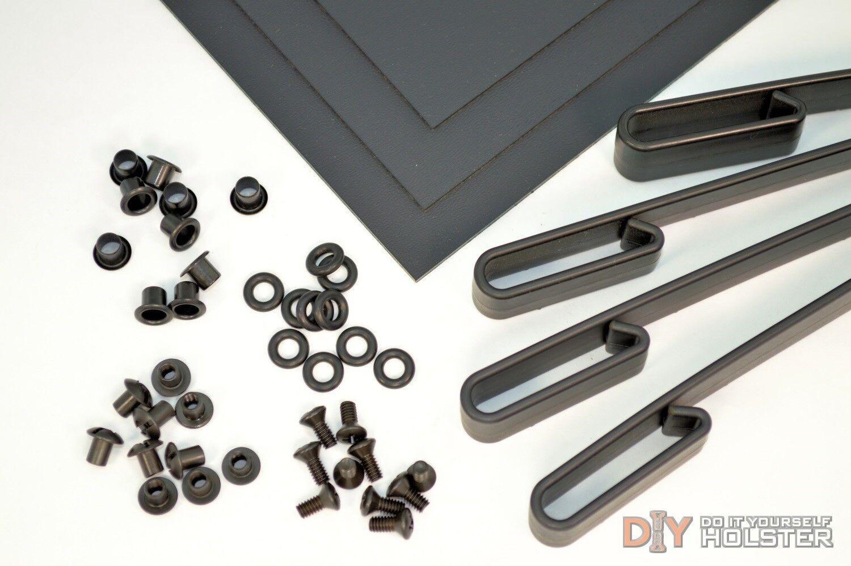Kydex Holster DIY Kit w  IWB Over Hooks (1.5  Belts)