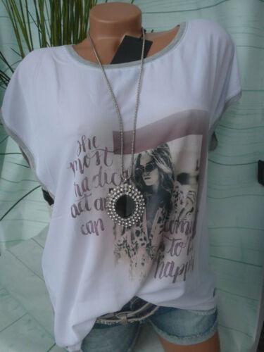 L Neu XXL creme weiß grau mit Muster Soyaconcept Shirt Bluse Damen Gr 126