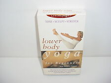 Yoga for Beginners Lower Body VHS Video Tape Fitness Workout Exercise