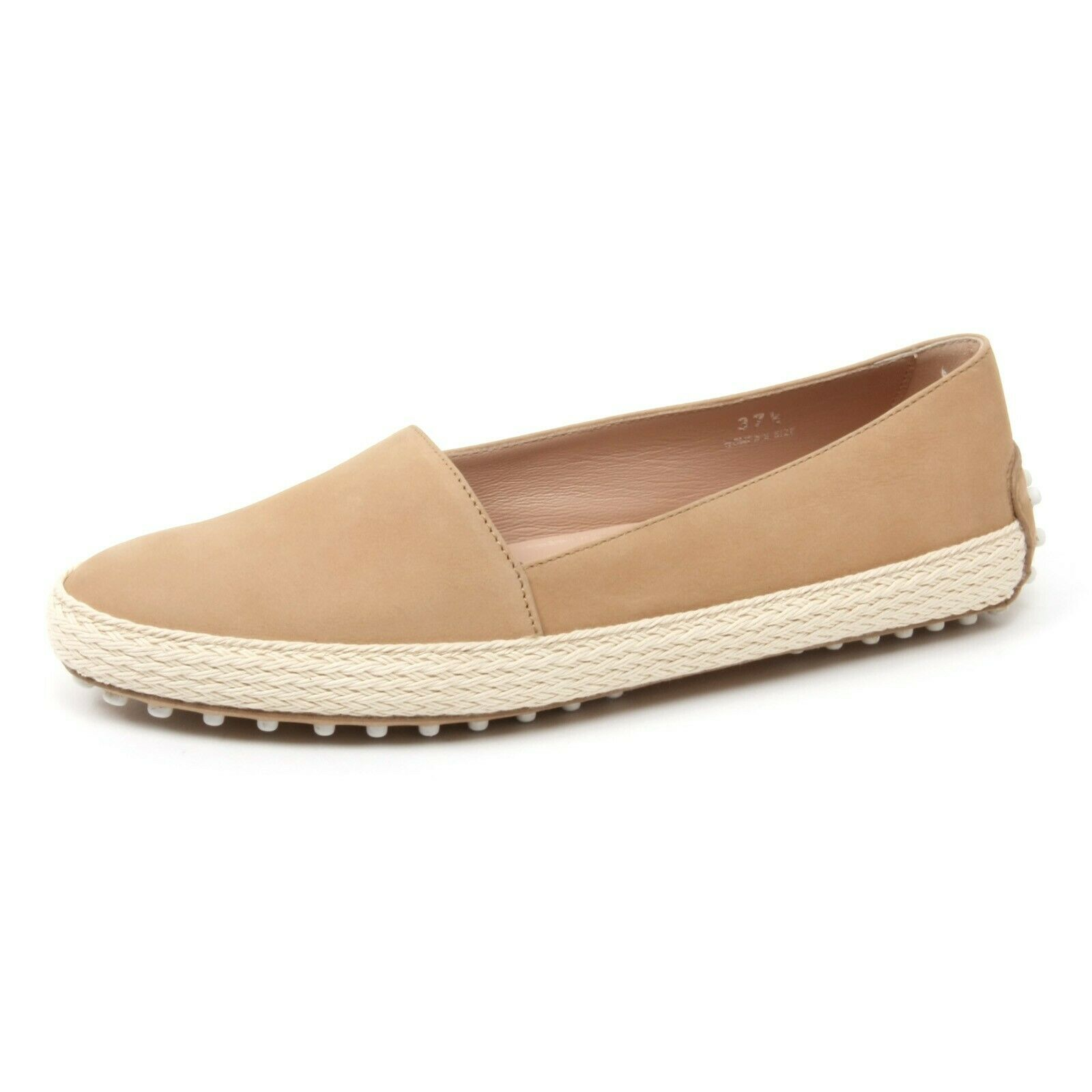B4618 moccasin women TOD's shoes Slipper Beige Loafer shoes Woman