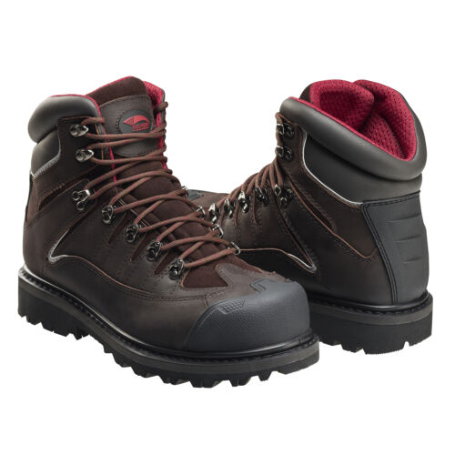 Men/'s Comfy Leather Safety Toe Removable Memory Foam Cushion Work Boot