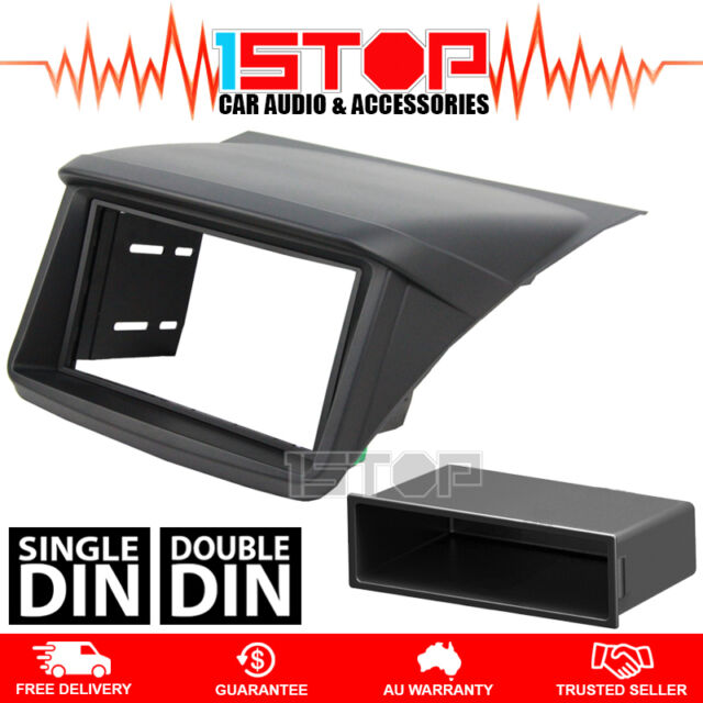 MITSUBISHI TRITON ML-MN DOUBLE-DIN FACIA KIT+SINGLE-DIN POCKET dash fascia panel