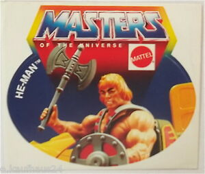 Sammler-Aufkleber Mattel He-Man Motu Masters of the Universe 80er