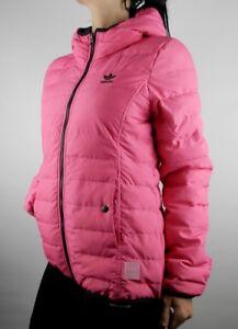 Adidas Originals Slim Trefoil Jacke Damen Winterjacke Winter Ski Jacke Rosa Neu