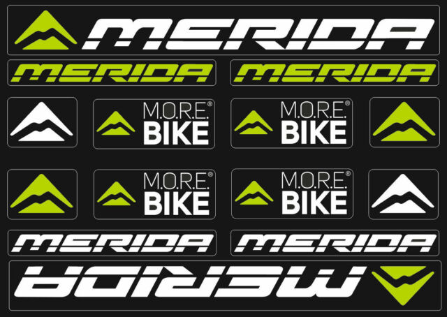 Merida Bicycle Frame Decals Stickers Graphic Adhesive Set Vinyl Black Green #4