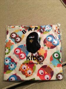 1b63d18bc New Bape Kid by A Bathing Ape Toddler Bandana Neckerchief Owl Print ...