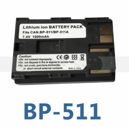 7.4V BP-511 BP-511A Batería para Canon EOS 5D 10D 20D 20Da 30D 300D 40D 50D