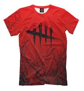 Details about DbD t-shirt - savage Killer simulator horror video game Dead  by Daylight tee