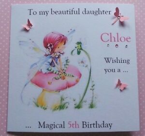 Image Is Loading Personalised Handmade Birthday Card Daughter Granddaughter Sister Any