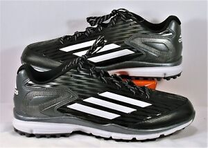 55dd6fc68a5d Image is loading Adidas-PowerAlley-3-Black-amp-White-Baseball-Trainer-