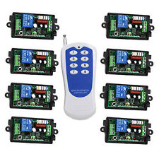 110V RF Wireless Remote Control Switch System,8CH Transmitter  Receivers,315HMz