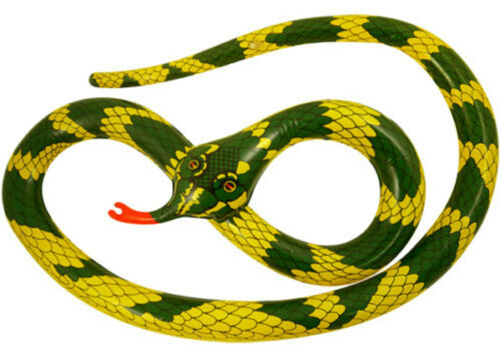 30cm Long Inflatable Snake Blow up Toy Jungle Animal Fancy Dress Accessory