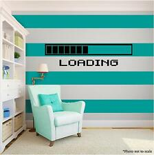 GAMING LOADING Vinyl Wall Art Wall Quote Home Room Decor Decal Word Phrase