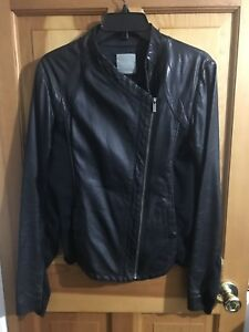 4a73731d6b67 pinko women black leather jacket,size : 10, Made in Italy | eBay