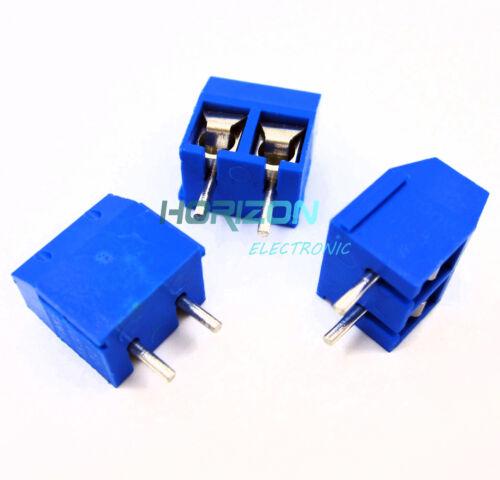 100pcs KF301-2P 2 Pin Plug-in Screw Terminal Block Connector 5.08mm Pitch