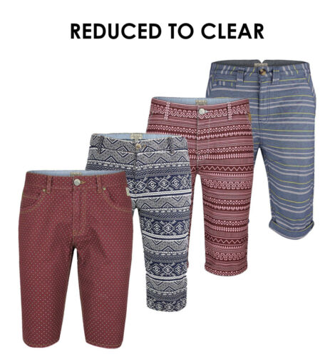 Mens Short Chino Summer Cargo Button Fly Summer Beach Pants Multi-Color 28-38