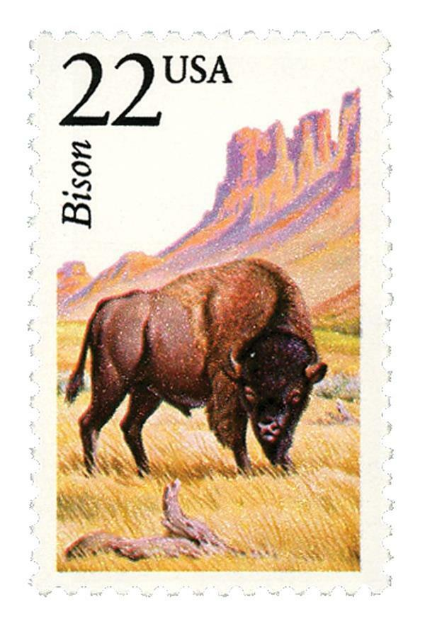 1987 22c Bison, North American Wildlife Scott 2320 Mint