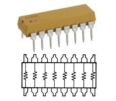 5 pezzi Rete Resistiva CTS 750 Serie 1KOhm 1K 2/% Networks Resistor 10 pin 9 res
