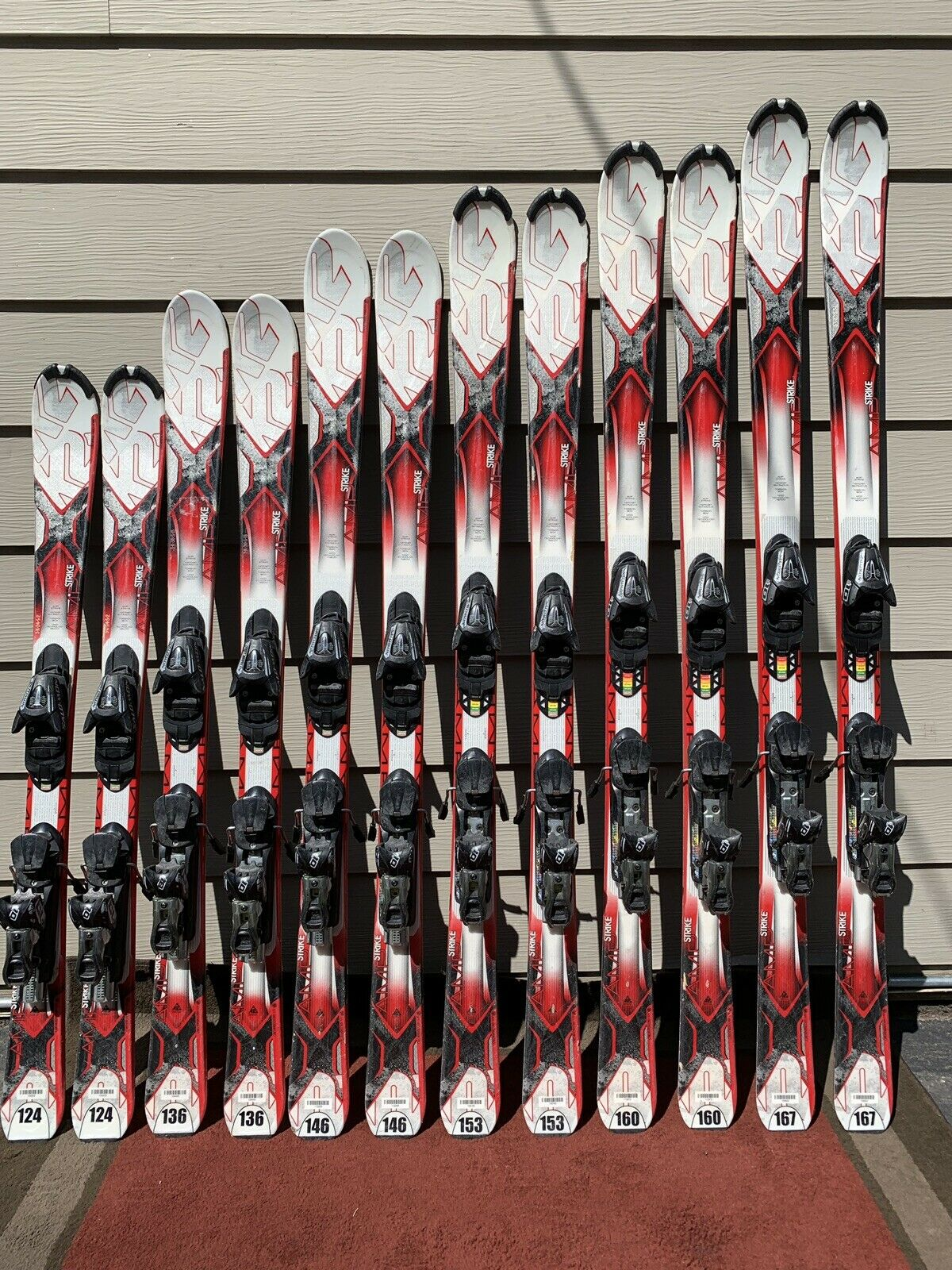 K2 AMP Strike System  Skis w  Salomon L10 Fully Adjustable Demo Bindings  with cheap price to get top brand