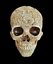 thumbnail 2 - Unique-Engraved-Floral-Realistic-Life-Size-HUMAN-SKULL-Resin-Model-Decorated-Art