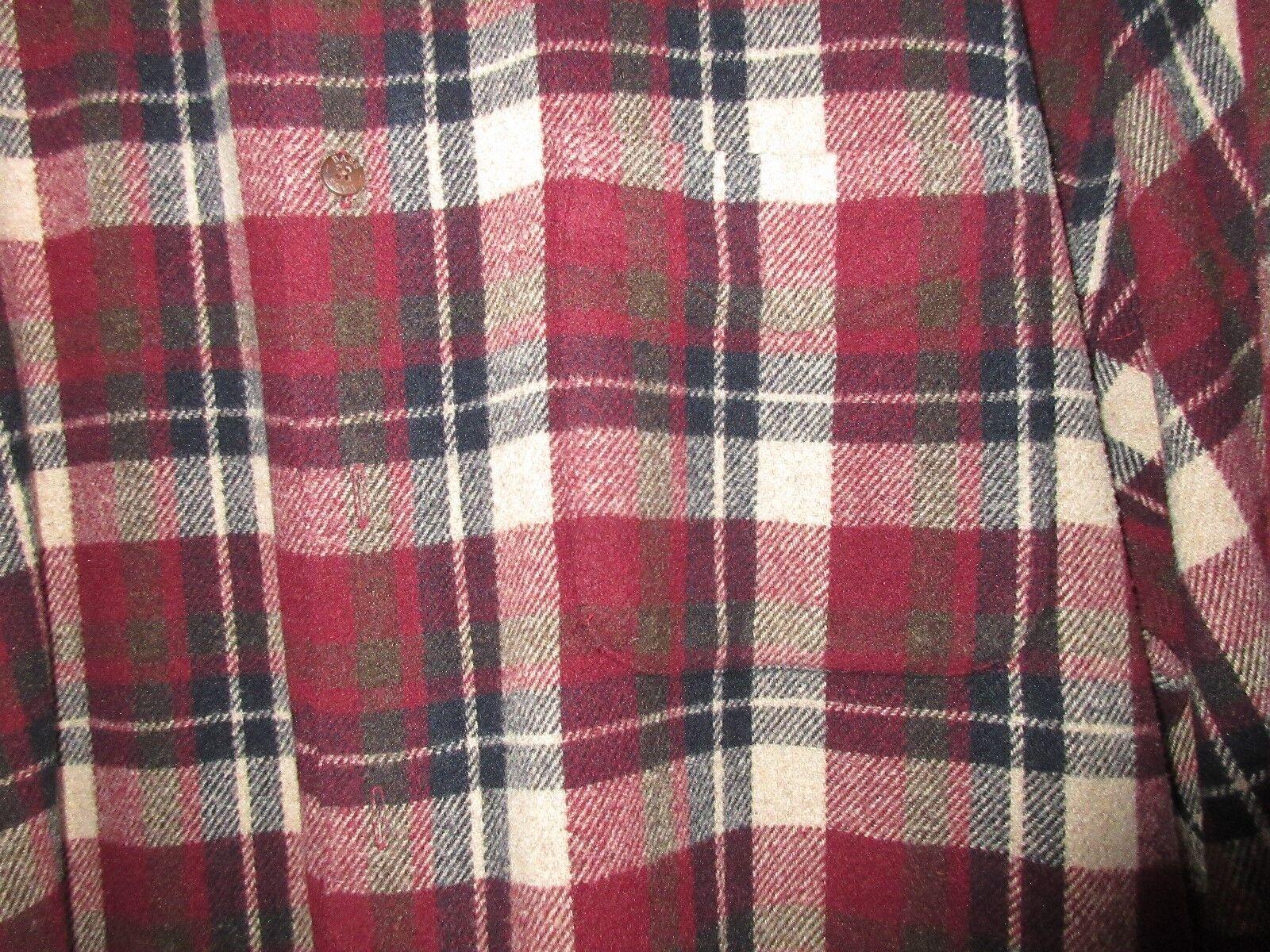 G.H. Bass & Co. , Shirt/Jacket ,Vintage , Cranberry Pla