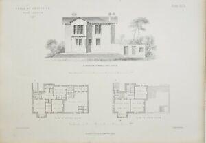 1868-Architektonisch-Aufdruck-Villa-Crosshill-Glasgow-John-Baird-Architekt-Hoehe