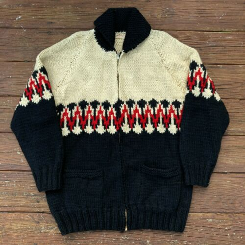 Vintage Cowichan Style Sweater 1950s 1960s Private