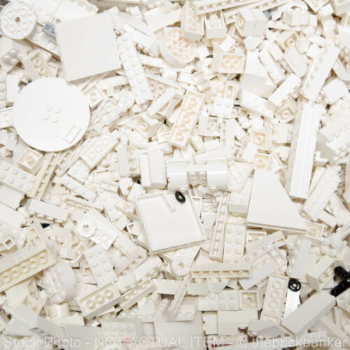 LEGO 1//2lb WHITE~200 Pieces-SANITIZED-Bulk Pound Lot Brick Part Random Assorted