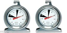 2x Brannan Premium 50mm Dial Stainless Steel Fridge Freezer Thermometer