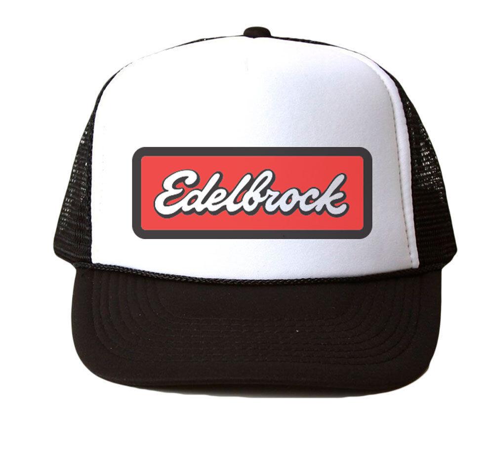 Acheter Pas Cher Edelbrock Trucker Hat Mesh Cap Snapback Réglable Neuf-noir Pratique Pour Cuire