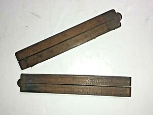 Vintage-Wooden-Folding-Wood-Ruler-2-Set-of-two-Unknown-Brand-See-pics