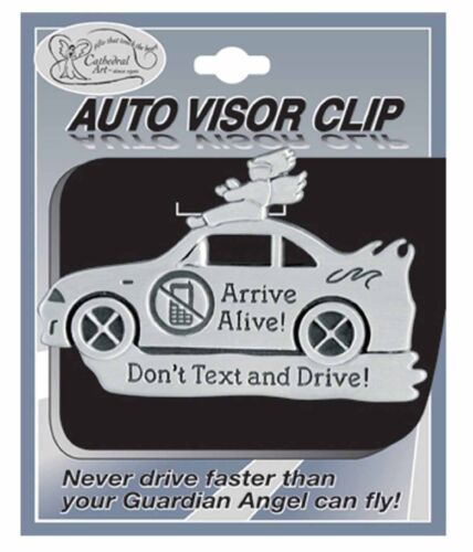 Don/'t Text and Drive Visor Clip Arrive Alive NEW SKU KVC625