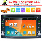 """6.2"""" Double 2 DIN Car Radio Stereo DVD Player Quad Core Android 5.1 GPS 3G WIFI"""