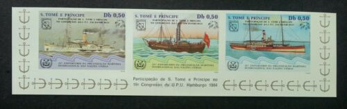 Sao Tome International Maritime Organization 1984 Ship (stamp) MNH *imperf