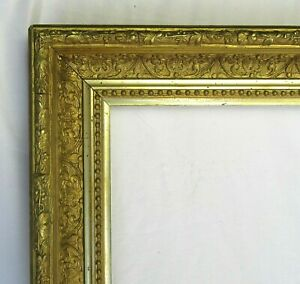 "ANTIQUE FITS 14""X 24""  GOLD GILT ORNATE WOOD PICTURE FRAME FINE ART VICTORIAN"