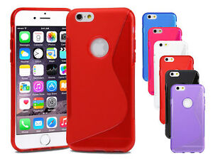 Silicone-Gel-S-Line-Case-Cover-For-Various-Apple-iPhone-Screen-Protector