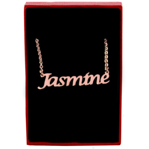 Personalized Jewellery Pendants Birthday Rose Gold Name Necklace Jasmine