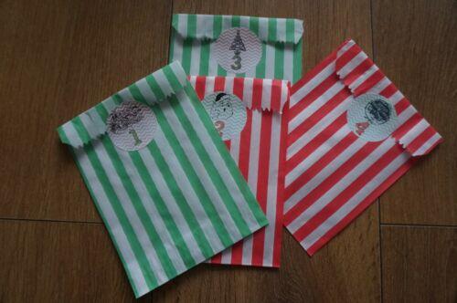 Christmas Countdown Avent Calendrier Stickers-Noël Craft étiquettes dort compteur